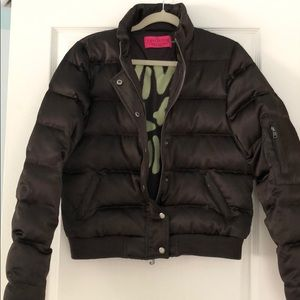 JUICY COUTURE BROWN BOMBER JACKET